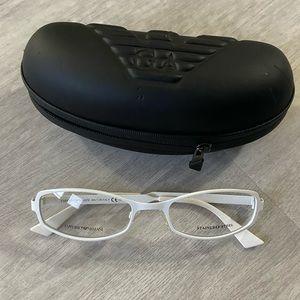 Emporio Armani white glasses